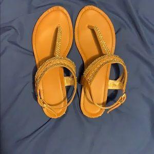Brown/gold sandals